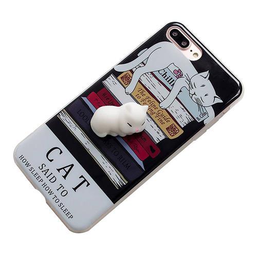 3D Uyku Kedi Silikon Kılıf TPU Kılıfı iPhone 6 / 6S için