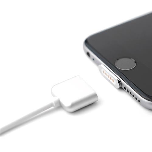 Cross Line Kabel Magnetisches Ladegerät Datenkabel USB Ladekabel für Apple iPhone 5 iPhone6 iPhone 6s Plus - Silber