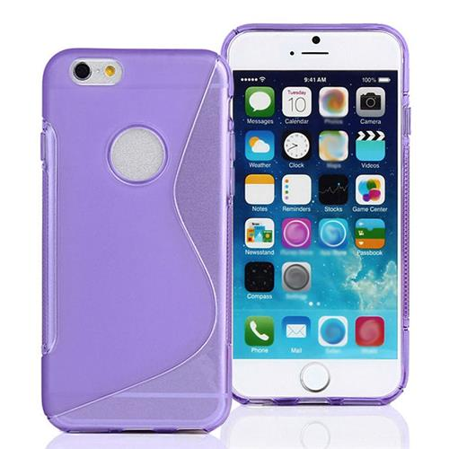 S Line TPU Soft Case Cover Skin for iPhone6 - Purple Other