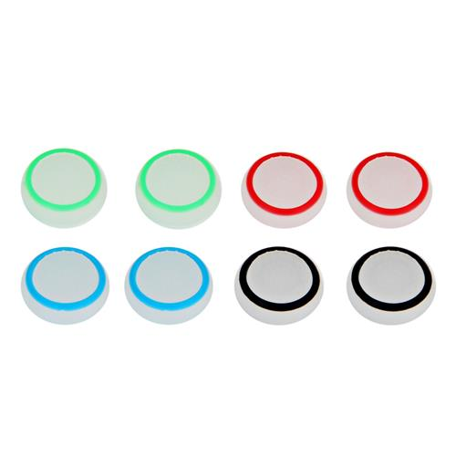 8PCS Wearable Controller Accessory Kits Luminous Button Caps for PS4 XBox One Gamepad - Colormix