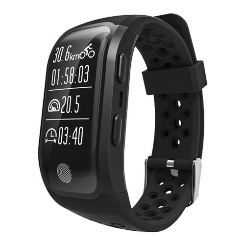 Makibes G03 Smart Wristband IP68 Water Resistant Sport Tracker Inbuilt GPS Heart Rate Monitor Activity Tracker Fitness Bracelet  Compatible with iOS Android - Black