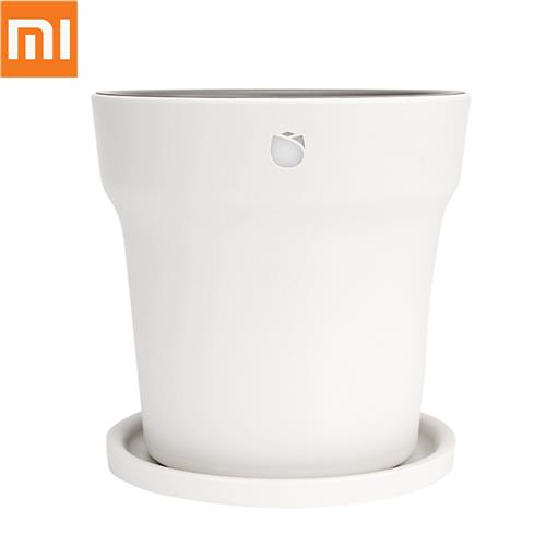 Xiaomi Mi Smart Flowerpot Plant Pot HHCC RoPot Digital Plants土壌水光テスターセンサーモニターとBluetooth接続-ホワイト