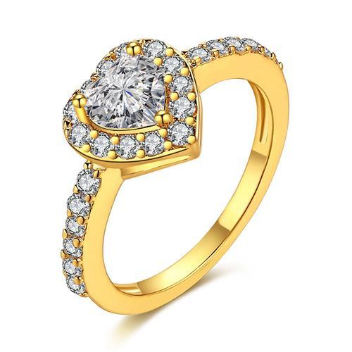 K Golden anillo de moda y con estilo para bailar fiesta tamaño de la tierra tamaño 8 -Copper Golden