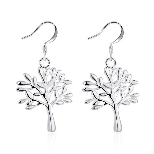 LKNSPCE874 Silver Plated Earrings Dangle Earrings for Women Girls Earrings Studs Set