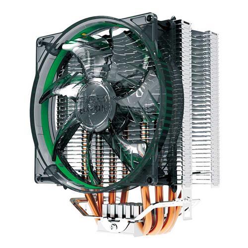 PCCOOLER Donghai X4 Ultra-silent CPU Cooler Fan Temperature Controller with 4 x 6mm Heat / LED Blue Light - Black