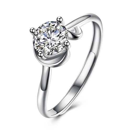 SH-R0008 925 anillo de plata esterlina Anillo de circonio cúbico ajustable anillo de la joyería