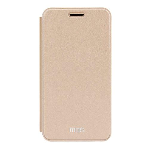 Gold Meizu Meilan M3S Mini Leather Case MOFI Rui Series Flip Stand Protective Cover Screen Protector Other