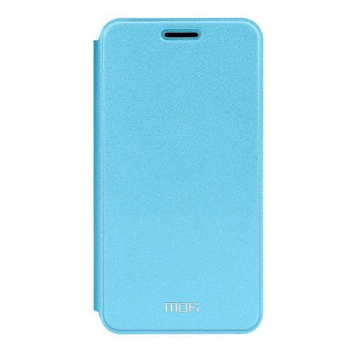 Blue Meizu Meilan M3S Mini Leather Case MOFI Rui Series Flip Stand Protective Cover Screen Protector