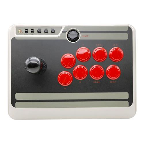 8Bitdo NES30 Arcade Stick Bluetooth USB Connection for Nintendo Switch / Android / Windows / MacOS - Gray