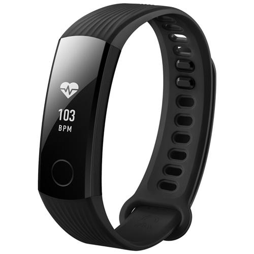 "Huawei Honor Band 3 Smart Wristband 0.91"" PMOLED Screen Heart Rate Monitor Push Message Compatible with iOS Android - Black"