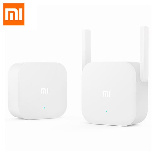 Xiaomi 300Mbps 2.4G WiFi Home Plug Wireless Power Line Transmission Plug And Play Ethernet Adapter US Plug - White