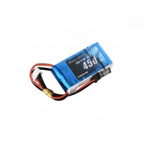 Gens Ace 450mAh 7.4V 30C 2S1P Lipo Battery Pack