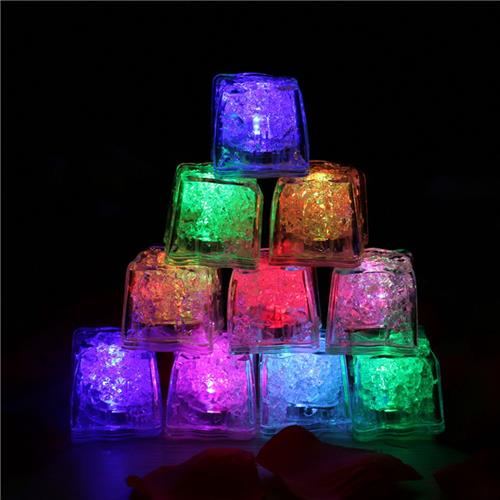 12PCS Led Ice Cube Light Induction Electronics Decoration Light for Party Wedding Celebrations