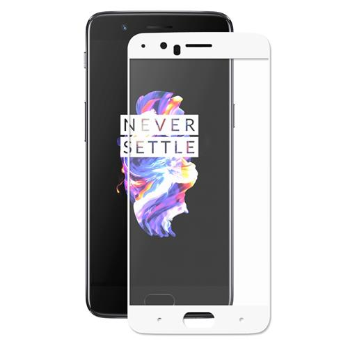 White OnePlus 5 Tempered Glass ENKAY Hat-Prince 0.26mm 2.5D Explosion-proof Membrane Glass Film фото