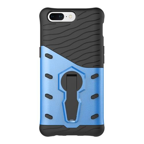 Blue OnePlus 5 Case Armour Series Protective Phone Case 360 Degree Rotating Bracket Stand Cover