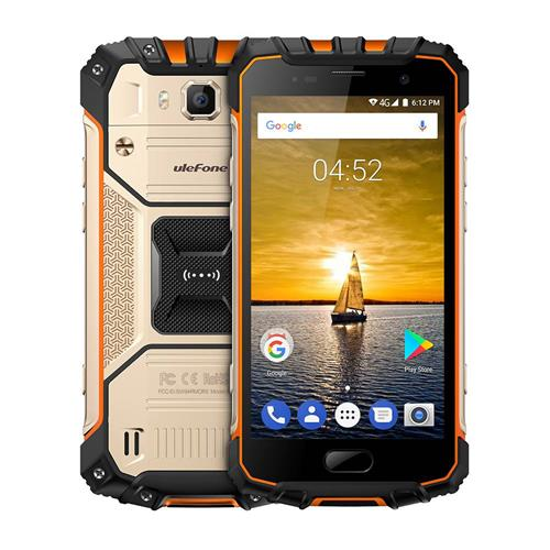 Ulefone Armor 2 5.0 Inch IP68 Waterproof Smartphone FHD Screen 6GB 64GB Helio P25 16.0MP Cam 4700mAh Fast Charge NFC Global Version - Gold