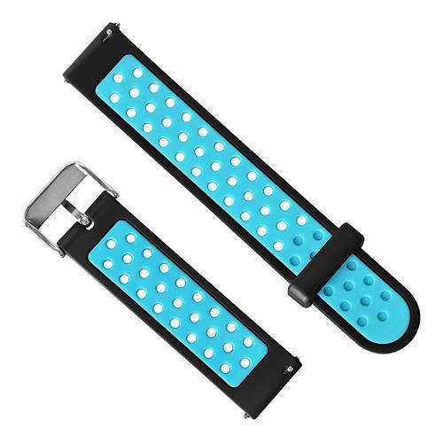 Huami Amazfit Bip Dual Color Smart Watch Band Replacement Strap - Black + Blue