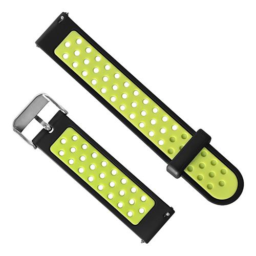 Huami Amazfit Bip Dual Color Smart Watch Band Replacement Strap - Black + Green