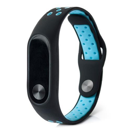 Xiaomi Mi bande 2 double couleur Smart Watch bande remplacement Smart Band - noir + bleu