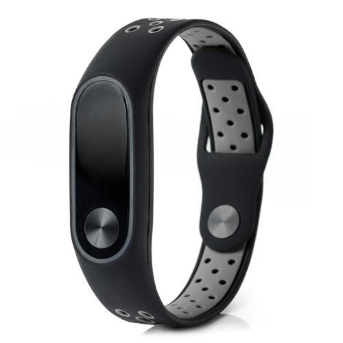 Xiaomi Mi Band 2 διπλής έγχρωμης Smart Watch αντικατάστασης ζώνης Smart Band - μαύρο + γκρι