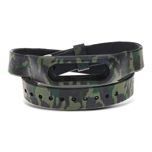 Extra Long Watch Strap for Xiaomi Mi Band 2 Silicone Replacement Wristband - Camouflage Green
