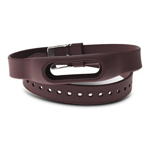 Bracelet de montre Extra Long pour Xiaomi Mi Band 2 Silicone Replacement Wristband - Café