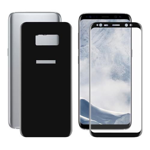Black Galaxy S8 Glass Film ENKAY Hat-Prince 0.26 mm 2.5D Explosion-proof Membrane Screen Film Front + Back Screen Protector