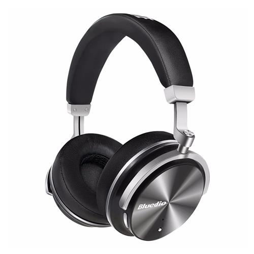 Bluedio T4 Wireless Bluetooth Headphone ANC Active Noise Cancelling Headset with Mic - Black