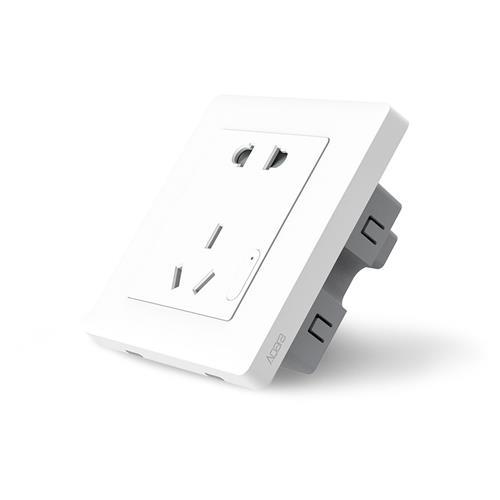 Xiaomi Mijia Aqara Smart WiFi Wall Socket ZigBee Wireless App Remote Control Timing Schedule Energy Management -White