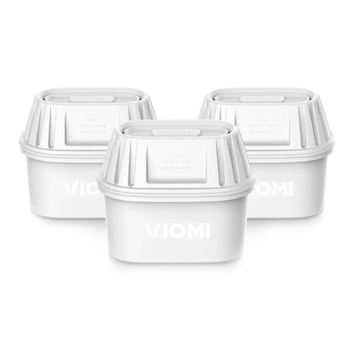 3PCS Xiaomi Viomi filtro elemento filtros de resina de troca de carbono para Xiaomi Viomi filtro de água - branco