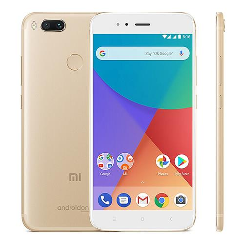 Xiaomi Mi A1 5.5 inch Smartphone Android One Dual Rear 12.0MP Cam Snapdragon 625 4GB 64GB IR Remote Control Full Metal Body Global Version - Gold