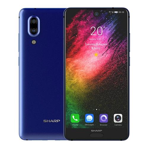 SHARP AQUOS S2 5.5 Inch 4G LTE Smartphone 12.0MP+8.0MP Dual Rear Cam Snapdragon SDM630 Octa Core 4GB 64GB Android 7.1 NFC VoLTE Fast Charge Type-C - Blue