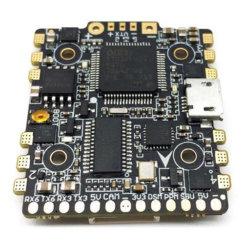 HGLRC F4 ZEUS FC + ESC AIOフライトコントローラ、STM32F405 CPU / BFOSD / 5V BEC / 4 1 15A BLHELI_S ESC