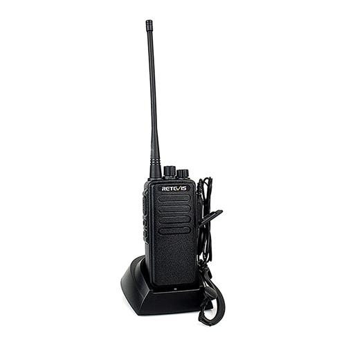 Retevis RT1 Walkie Talkie ricaricabile 10W VHF (UHF) 16CH 3000mAh Batteria Scansione VOX Scrambler Tono 1750Hz -Black
