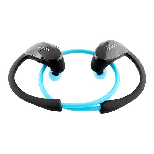 Dacom G05 Wireless Bluetooth Headphones with Mic NFC Noise Cancelling IPX4 Watr-resistant - Black + Blue