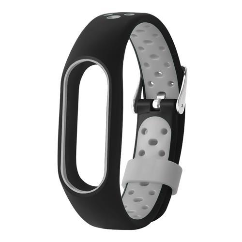 TAMISTER M2 Pro correa para reloj para Xiaomi Mi Band banda de repuesto de doble color - gris