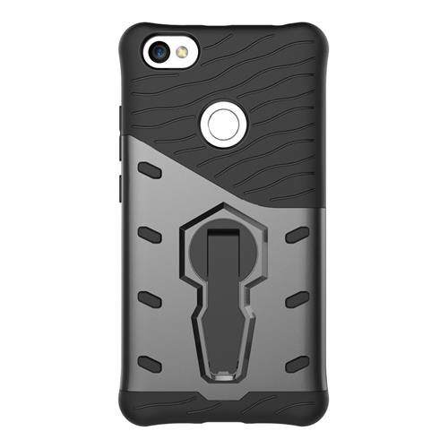 Armour Series Protective Phone Case 360 Degree Rotating Bracket Stand Cover For Xiaomi Redmi Note 5A - Black