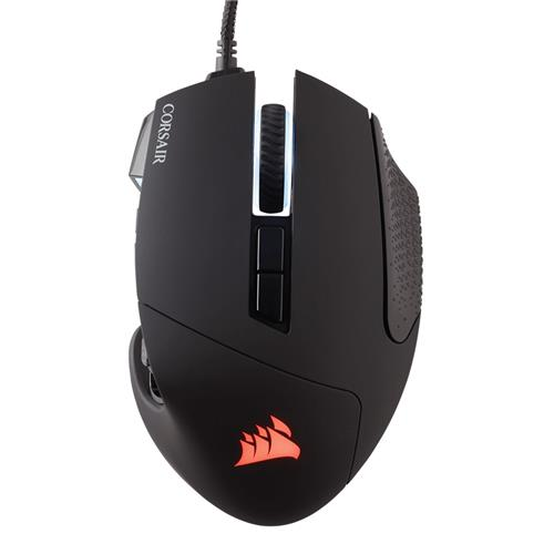 CORSAIR Scimitar RGB Pro Wired Gaming Mouse RGB retroilluminato a LED 16000 DPI - Pannello laterale nero