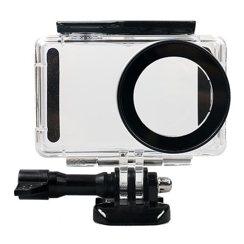 Diving 45m Waterproof Case for Xiaomi Mijia Action Camera - Black + Transparent