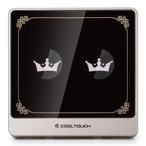 Cooltouch CTSS-WMJ-2 2 Gang Touch Switch Wireless Panel Remote Control Light Controller Body Induction -Black