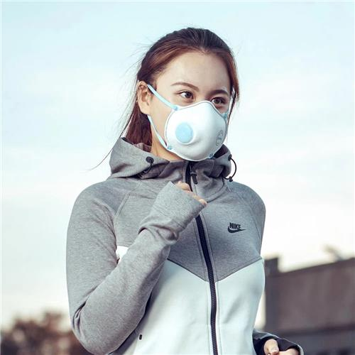 Xiaomi Mijia Purely Breathing Mask Fit Face Resilient Ventilate Free Breathing 4-слойный фильтр 3 Packs - белый