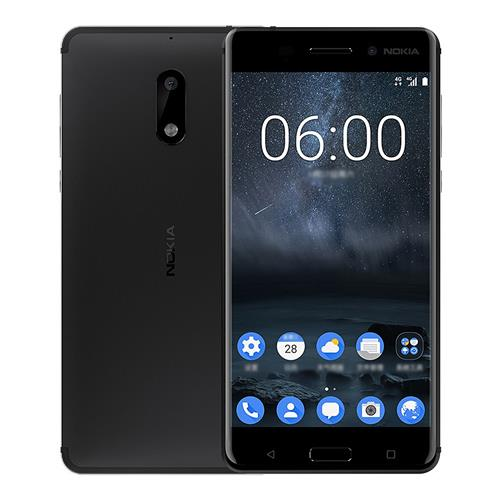 Nokia 6 5.5 Inch 4G LTE Smartphone 4GB RAM 64GB ROM Snapdragon 430 Octa Core 16.0MP + 8.0MP Cam Android 7.0 Touch ID Carica veloce - Nero