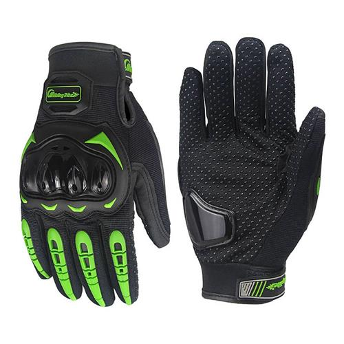 Riding Tribe MCS-17 Long Finger Motorcycle Racing Gloves Anti-slip Touch Screen Gloves for Motorbike L - Green