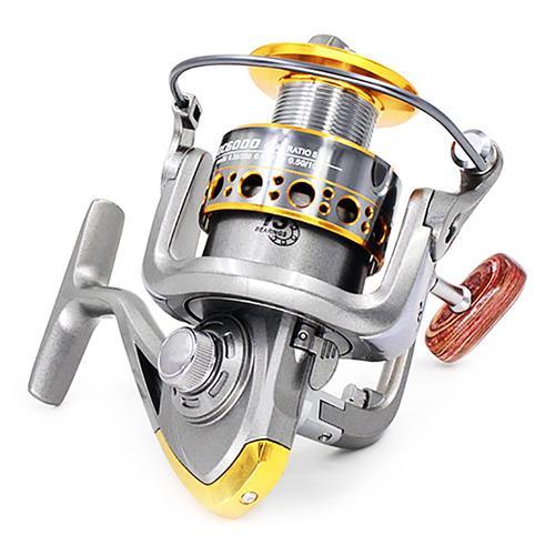 DIAODELAI 7000 Spinning Halászati Kerék 13 Axis Fém Spool Hajó Horgászolló Sós vízimogyoró - Ezüst Szürke