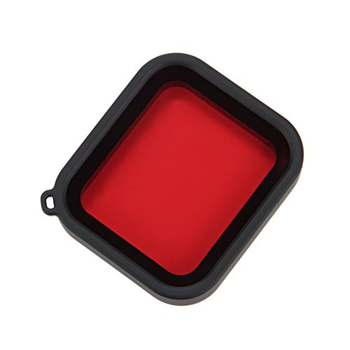 Camera Waterproof Case Filter + Lens Cover For GoPro HERO5 HERO6 Camera - Red