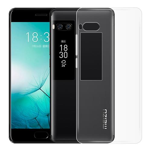 MEIZU Pro 7 Plus Silicone Case Protective TPU Phone Shell Back Cover - Transparent фото