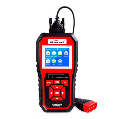 KONNWEI KW850 OBDII EOBD CAN Scanner diagnostico per auto con indicatore LED - Nero