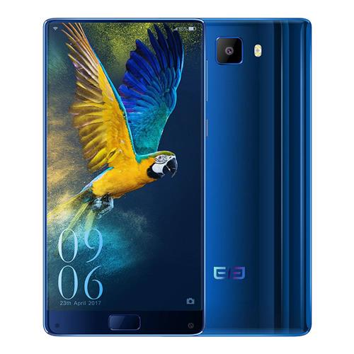 Elephone S8 6.0 Inch Smartphone 2K Full Screen Helio X25 Deca Core 4GB 64GB 21.0MP Cam Android 7.1 Touch ID 4000mAh  Quick Charge 3D Curved Glass Body - Blue