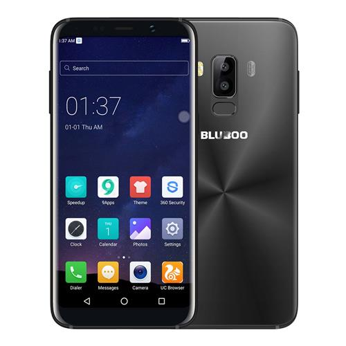 BLUBOO S8 5.7 Inch Smartphone 18:9 Full Screen 3GB 32GB MTK6750T Octa Core Dual Rear Camera Android 7.0 Touch ID 3450mAh - Black