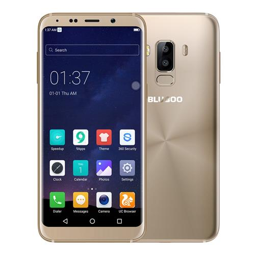 BLUBOO S8 5.7 Inch Smartphone 18:9 Full Screen 3GB 32GB MTK6750T Octa Core Dual Rear Camera Android 7.0 Touch ID 3450mAh - Gold